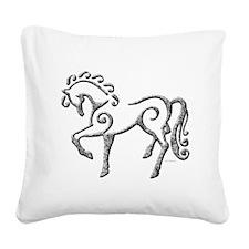 Celtic Horse Square Canvas Pillow