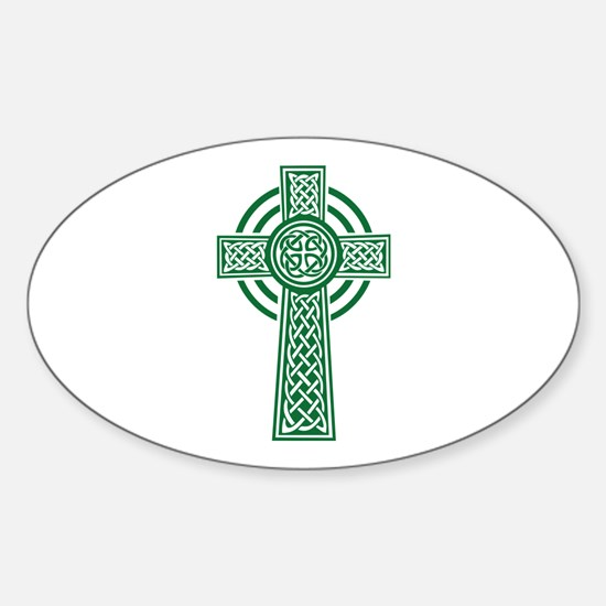 Celtic cross Sticker (Oval)