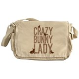 Crazy bunny lady Messenger Bag