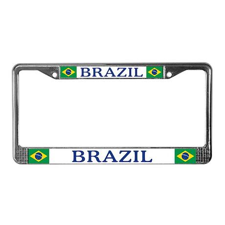 """""""Brazil Flag"""" License Plate Frame"""