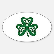 Shamrock celtic knot Sticker (Oval)