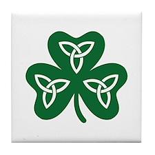 Shamrock celtic knot Tile Coaster