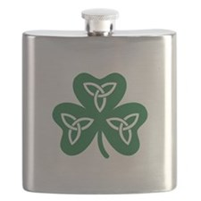 Shamrock celtic knot Flask