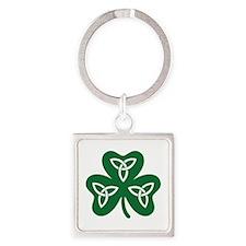 Shamrock celtic knot Square Keychain