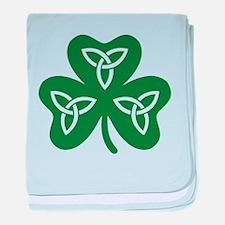 Shamrock celtic knot baby blanket