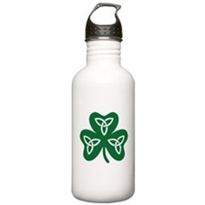 Shamrock celtic knot Water Bottle