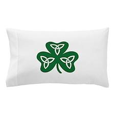 Shamrock celtic knot Pillow Case