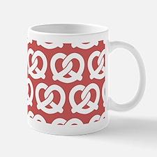 Coral and White Twisted Yummy Prestzels Mug