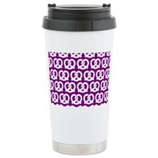Purple and WhiteTwisted Travel Mug
