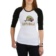 Lets Roll Camping Trailer Baseball Jersey
