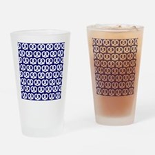 Navy and White Twisted Yummy Pretze Drinking Glass