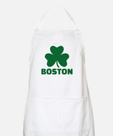 Boston shamrock Apron