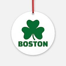 Boston shamrock Ornament (Round)