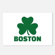 Boston shamrock Postcards (Package of 8)