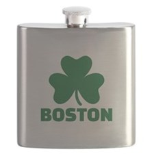 Boston shamrock Flask