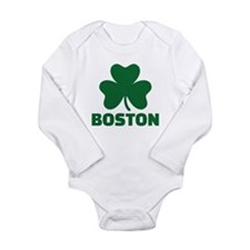 Boston shamrock Long Sleeve Infant Bodysuit