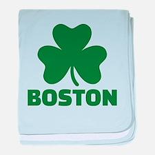 Boston shamrock baby blanket
