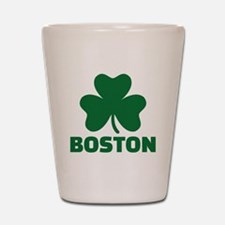 Boston shamrock Shot Glass