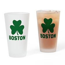 Boston shamrock Drinking Glass