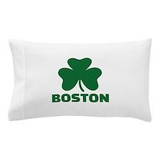 Boston shamrock Pillow Case
