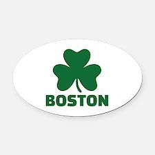 Boston shamrock Oval Car Magnet