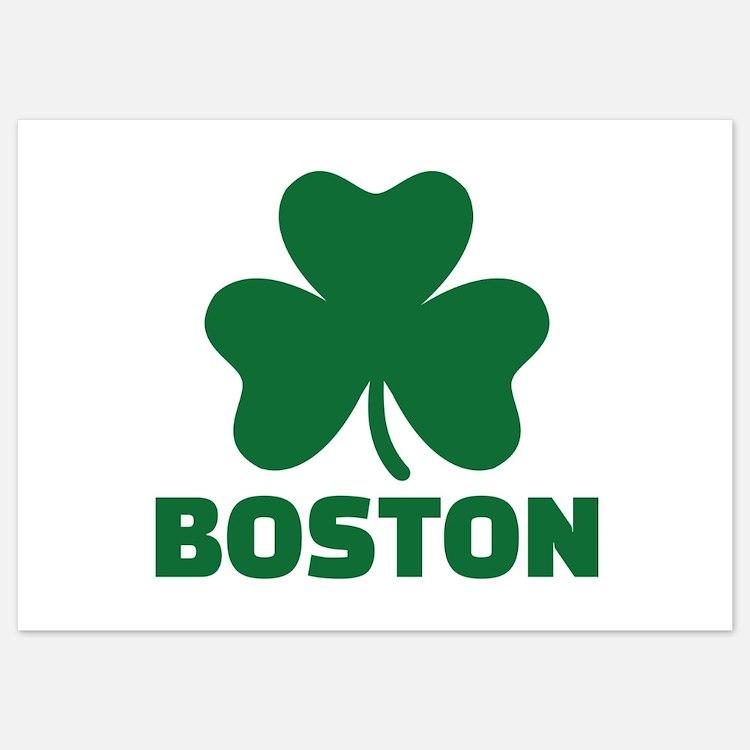Boston shamrock Invitations