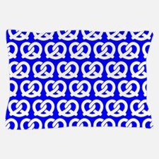 Blue and WhiteTwisted Yummy Pretzels P Pillow Case