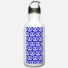 Blue and WhiteTwisted Water Bottle