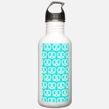 Aqua and White Twisted Water Bottle