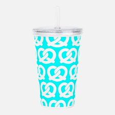 Aqua and White Twisted Acrylic Double-wall Tumbler