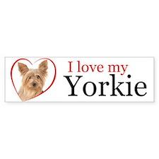 Love My Yorkie Bumper Bumper Sticker