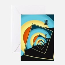 Spinning Disc Golf Baskets 1 Greeting Cards