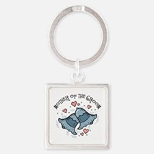 Wedding Bells MOTG Square Keychain