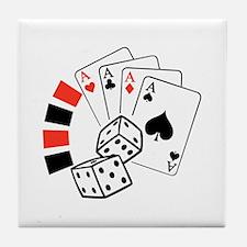 GAMBLING MONTAGE Tile Coaster