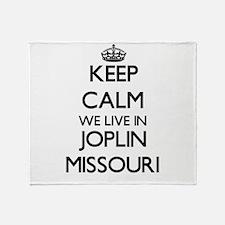 Keep calm we live in Joplin Missouri Throw Blanket