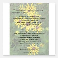 """To Everything a Season Square Car Magnet 3"""" x 3"""""""