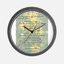 To Everything a Season Wall Clock