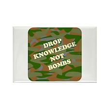 """Drop Knowledge..."" (camo) Rectangle Magnet"