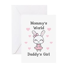 MOMMYS WORLS DADDYS GIRL Greeting Cards
