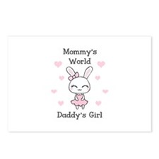 MOMMYS WORLS DADDYS GIRL Postcards (Package of 8)