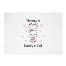 MOMMYS WORLS DADDYS GIRL 5'x7'Area Rug