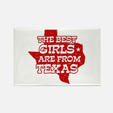 Texas Girl Rectangle Magnet