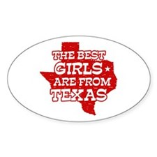 Texas Girl Oval Decal