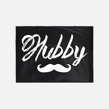 Mustache hubby 5'x7'Area Rug