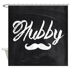 Mustache hubby Shower Curtain