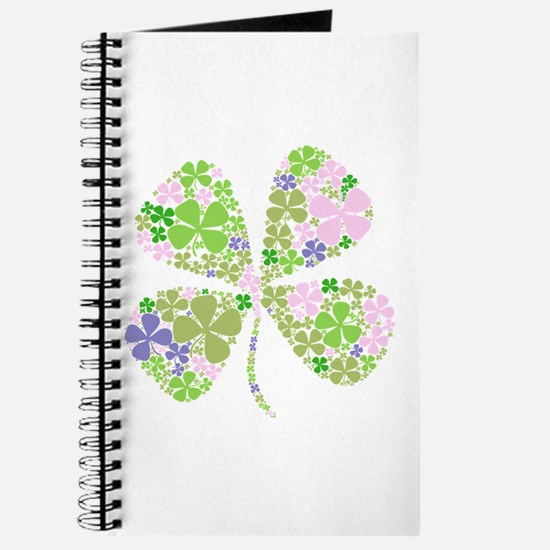 Lucky Multi Four-Leaf Clover Journal
