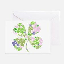 Lucky Multi Four-Leaf Clover Greeting Cards (Packa
