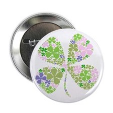 Lucky Multi Four-Leaf Clover Button