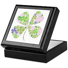 Lucky Multi Four-Leaf Clover Keepsake Box