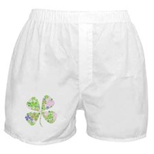 Lucky Multi Four-Leaf Clover Boxer Shorts